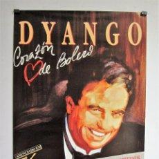 Fotos de Cantantes: DYANGO CORAZÓN DE BOLERO CARTEL PROMOCIONAL ORIGINAL 48X68. Lote 68746521