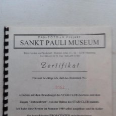 Fotos de Cantantes: THE BEATLES, SANKT PAULI MUSEUM. DOCUMENTACIÓN ENCONTRADA EN STAR CLUB, ED LIMITADA 500 EJEMPLARES.. Lote 69758229