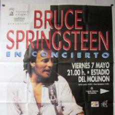 Fotos de Cantantes: BRUCE SPRINGSTEEN. CARTEL ORIGINAL GIGANTE (100 X 140) DE HISTÓRICO CONCIERTO EN GIJÓN. Lote 72772275