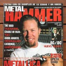 Fotos de Cantantes: METAL HAMMER 183 - METALLICA . AC/DC . WHITESNAKE . MUDVAYNE . THE USED . CON POSTERS. Lote 76596647