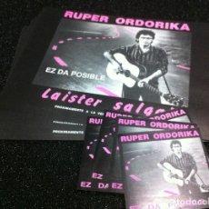 Fotos de Cantantes: RUPER ORDORIKA MATERIAL PROMOCIONAL PRENSA. Lote 78271565