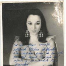 Fotos de Cantantes: FOTO DE PASTORA DE ALGECIRAS CON DEDICACION ORIGINAL . Lote 80748398