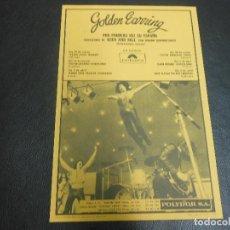 Fotos de Cantantes: 1974 CARTEL FLYER DE GOLDEN EARRING CONCIERTO MADRID BARCELONA IRUN BILBAO PAMPLONA ZARAGOZA. Lote 101635559