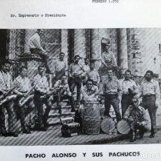Fotos de Cantantes: CARTA Y FOTO DE PACHO Y SUS PACHUCOS.FOTO 14X20 CM.ARTISTAS ALFREDO SAAVEDRA.. Lote 84804436