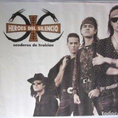 Fotos de Cantantes: HEROES DEL SILENCIO SENDEROS DE TRAICIÓN 1990. CARTEL ORIGINAL 97X139 CMS.. Lote 115144651