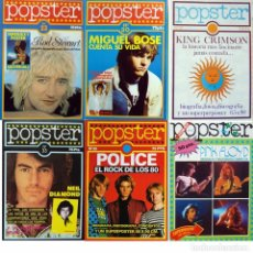 Fotos de Cantantes: POPSTER POSTER POLICE, PINK FLOYD, ROD STEWART, MIGUEL BOSE, KING CRIMSON, NEIL DIAMOND. EXCELENTE. Lote 88370848