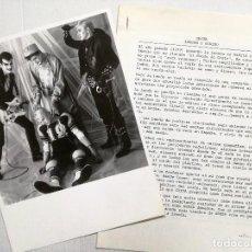 Fotos de Cantantes: DOSIER DE GRETA BANDA DE ROCK AND ROLL.PUBLICIDAD PARA EMPRESASY .FOTO 18X24 CM. Lote 90560080