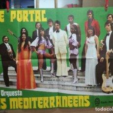 Fotos de Cantantes: CARTEL DE ELIE PORTAL Y SU ORQUESTA MEDITERRANEENS-100X70 CM.RADIO MONTE CARLO. Lote 90759890
