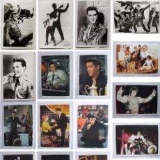 Fotos de Cantantes: LOTE 17 POSTALES ELVIS PRESLEY-TICKLE-GIRLS-BLUES-KING CREOLE-JAILHOUSE ROCK-PELICULAS AÑOS 50-60-70. Lote 91962380