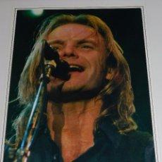 Fotos de Cantantes: (M) FOTOGRAFIA ORIGINAL DE STING , 30 X 23 CM, FIRMADA TONY MOON ???. Lote 92981135