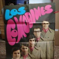 Fotos de Cantantes: CARTEL DEL GRUPO. LOS COMODINES. AÑO1968. RARO,ACTUACIONEN CALAHORRA LA RIOJA.SALA LOPE DE VEGA. Lote 93816030