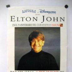 Foto di Cantanti: ELTON JOHN ORIGINAL CONCERT POSTER 31X51 CMS PAMPLONA 1995 WALT DISNEY. Lote 93834950