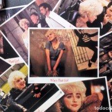 Fotos de Cantores: MADONNA WHO´S THAT GIRL SET DE 8 FOTOCROMOS O FOTOGRAMAS ORIGINALES NUEVOS 28X35,5 CMS USA. Lote 97376659