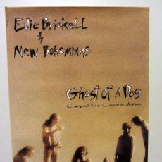 """Fotos de Cantantes: EDDIE BRICKELL & NEW BOHEMIAN """"GHOST OF A DOG"""" (1990). CARTEL PROMOCIONAL DEL ÁLBUM.. Lote 97419107"""