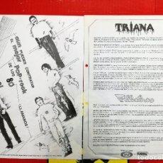 Fotos de Cantantes: HOJA DE PRODUCIONES ARTISTICAS MOVIE PLAY.TRIANA Y ALBATROS. POP ROCK AÑOS 80. Lote 97795271