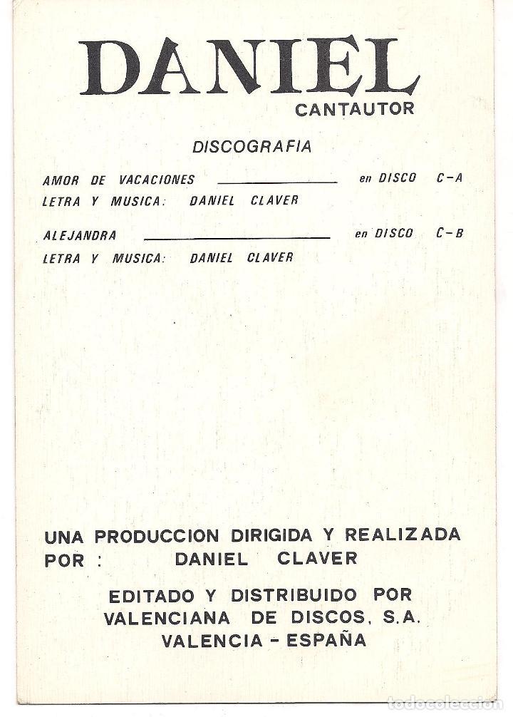 Fotos de Cantantes: FOTO POSTAL - DANIEL - VALENCIANA DE DISCOS VALENCIA - C-8 - Foto 2 - 98212963