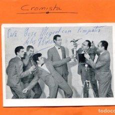 Fotos de Cantantes: CONJUNTO ' LOS IBERICOS ' CON SU CANTOR ' TONY '. -- TARJETA MUSICAL ( VER TRASERA ). Lote 98707359