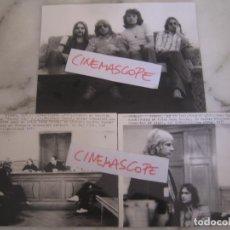 Fotos de Cantantes: INTERESANTE LOTE 3 FOTOS ORIGINALES DEL GRUP STATUS QUO AÑOS 70. Lote 100371883