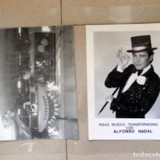Photos de Chanteurs et Chanteuses: LOTE DOS FOTOGRAFIAS ORIGINALES. ALFONSO NADAL. MUSICA.SALA FIESTAS SAMBRASIL. TRANSICION AÑOS 70. Lote 101136031