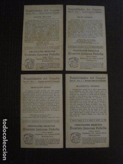 Fotos de Cantantes: NOTABILIDADES DEL CUPLE - COUPLET -COLECCION COMPLETA 15 CROMOS -CHOC. JUNCOSA-VER FOTOS- (V-12.427) - Foto 4 - 101484055