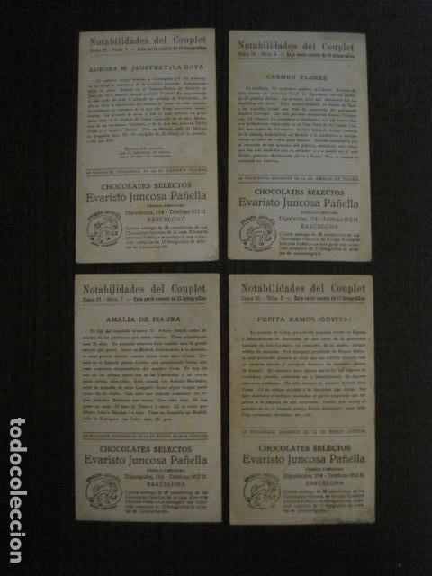 Fotos de Cantantes: NOTABILIDADES DEL CUPLE - COUPLET -COLECCION COMPLETA 15 CROMOS -CHOC. JUNCOSA-VER FOTOS- (V-12.427) - Foto 6 - 101484055