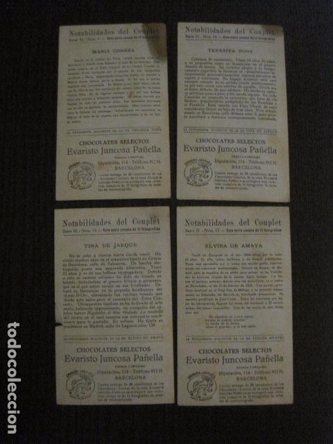 Fotos de Cantantes: NOTABILIDADES DEL CUPLE - COUPLET -COLECCION COMPLETA 15 CROMOS -CHOC. JUNCOSA-VER FOTOS- (V-12.427) - Foto 8 - 101484055