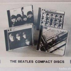 Fotos de Cantantes: FOTO ORIGINAL PROMOCIONAL BEATLES PRIMER LANZAMIENTO EN CD EMI PARLOPHONE. Lote 102587459