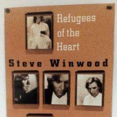 """Fotos de Cantantes: STEVE WINWOOD """"REFUGEES OF THE HEART"""" (1990). CARTEL PROMOCIONAL DEL ÁLBUM.. Lote 103673847"""