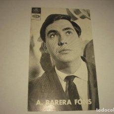 Fotos de Cantantes: A.PARERA FONS. Lote 103856883