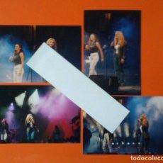 Fotos de Cantantes: ELLA BAILA SOLA LOTE 4 FOTOGRAFIAS ORIGINALES AÑO 1998. Lote 112070511