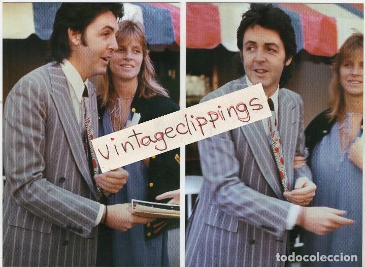 PAUL & LINDA MCCARTNEY 2X 1977 CANDID FAN 10X15CM PHOTOS PHOTO BEATLES FOTO (Música - Fotos y Postales de Cantantes)