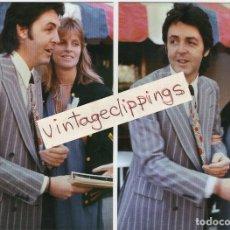 Fotos de Cantantes: PAUL & LINDA MCCARTNEY 2X 1977 CANDID FAN 10X15CM PHOTOS PHOTO BEATLES FOTO. Lote 112124411