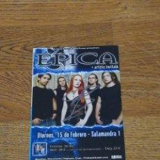 Fotos de Cantantes: EPICA PROMO POSTCARD CONCERT SIGNED/FIRMADO BY SIMONE SIMONS TOUR SPAIN 2008 15X10 CM-NIGHTWISH. Lote 112826343