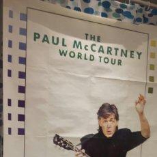 Fotos de Cantantes: PAUL MCCARTNEY - BEATLES - THE PAUL MCCARTNEY WORLD TOUR - POSTER ENORME - ITALIA- BUEN ESTADO. Lote 115019687