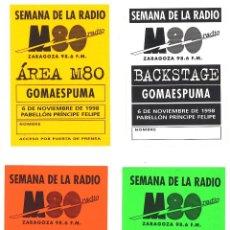 Fotos de Cantantes: BACKSTAGE SEMANA DE LA RADIO - MIGUEL RÍOS Y GOMAESPUMA - ZARAGOZA - 1998. Lote 48835487