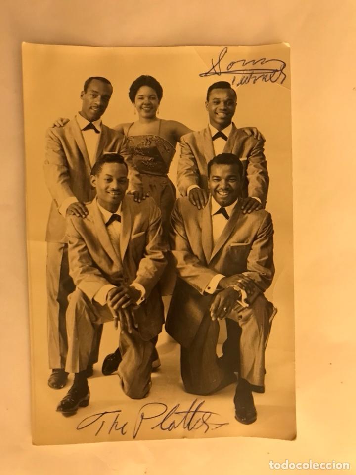 THE PLATTERS. POSTAL DEDICADA (H.1950?) (Música - Fotos y Postales de Cantantes)