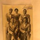 Fotos de Cantantes: THE PLATTERS. POSTAL DEDICADA (H.1950?). Lote 120148942