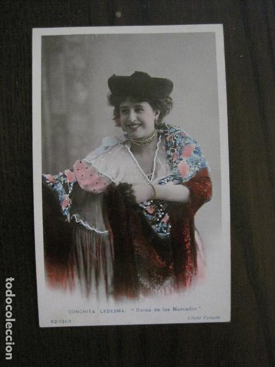 CONCHITA LEDESMA -POSTAL ANTIGUA CUPLETISTAS FOTOGRAFICA-VER FOTOS-(52.879) (Música - Fotos y Postales de Cantantes)