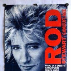 Fotos de Cantantes: ROD STEWART, CAMOUFLAGE (1984). CARTEL ORIGINAL PROMOCIONAL. 48 X 65 CMS.. Lote 120527850