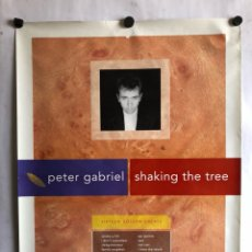Fotos de Cantantes: PETER GABRIEL, SHAKING THE TREE (1990). CARTEL PROMOCIONAL ORIGINAL VIRGIN. 50 X 70 CMS.. Lote 120626156