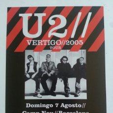 Fotos de Cantantes: U2 FLYER ORIGINAL 2005 CONCIERTO BARCELONA. Lote 121913268