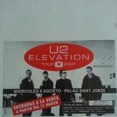 Fotos de Cantantes: U2 FLYER CONCIERTO BARCELONA 2001. Lote 121913212