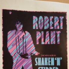 Fotos de Cantantes: POSTER - ROBERT PLANT (LED ZEPPELIN)- SHAKEN 'N' STIRRED - POSTER PROMOCIONAL. Lote 124278018