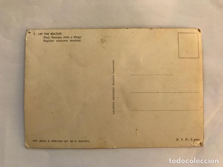 Fotos de Cantantes: THE BEATLES. Postal C.159 Edita. Archivo Bermejo (a.1964) - Foto 2 - 125201736