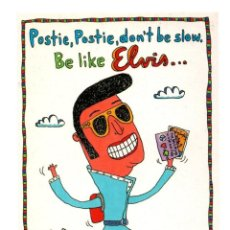 Fotos de Cantantes: TARJETA POSTAL POST CARD CARTE POSTALE ELVIS AARON PRESLEY (TUPELO) BE LIKE GO MAN GO AVANT CARD VER. Lote 126715199