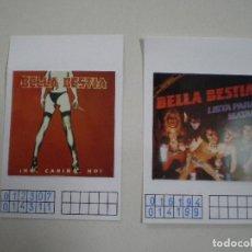 Fotos de Cantantes: BELLA BESTIA HEAVY METAL // FICHAS DE MUESTRARIO CON FOTOGRAFIA LP REPRESENTANTE DISCOGRAFICA1980S. Lote 126723115