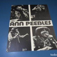 Fotos de Cantantes: FICHA DISCOGRAFICA DEL GRUPO MUSICAL DE SOUL ANN PEEBLES - DISTRIBUICION COLUMBIA 1975. Lote 127773891