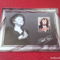 Fotos de Cantantes: POSTAL POST CARD CARTE POSTALE CENTENARY OF BIRTH EDITH PIAF CENTENARIO DEL NACIMIENTO DE CANTANTE . Lote 128028063