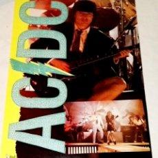 Fotos de Cantantes: ANTIGUO Y PEQUEÑO POSTER TAMAÑO PÁGINA DEL GRUPO AC/DC - 28X20CM. Lote 128089223