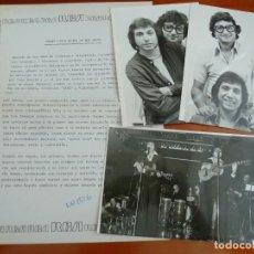 Fotos de Cantantes: LOS AMAYA 3 FOTOS ORIGINALES ANTIGUAS AÑOS 70 CON HOJA DE LA DISCOGRAFICA. Lote 128280895